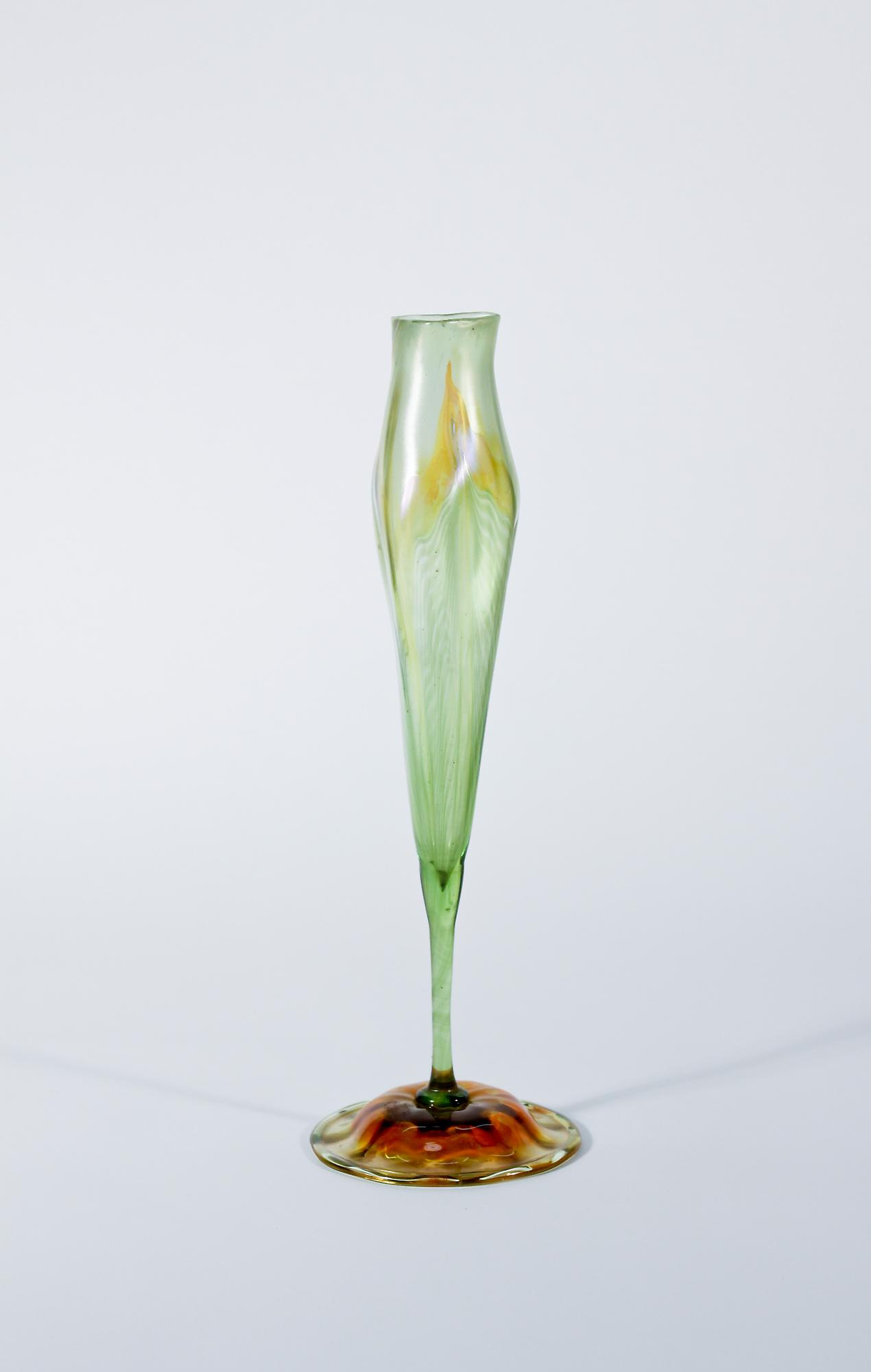 Tiffany Favrile Glass  Calyx Flower Form Vase 2