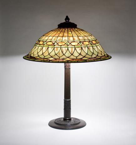 Tiffany Studios <br> Roman Helmet Table Lamp 1