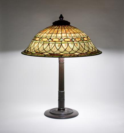 Tiffany Studios <br> Roman Helmet Table Lamp 2