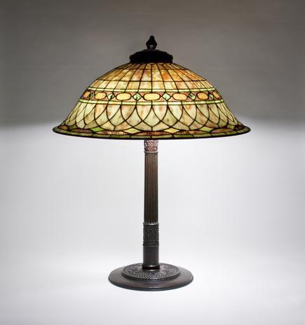 Tiffany Studios <br> Roman Helmet Table Lamp 3