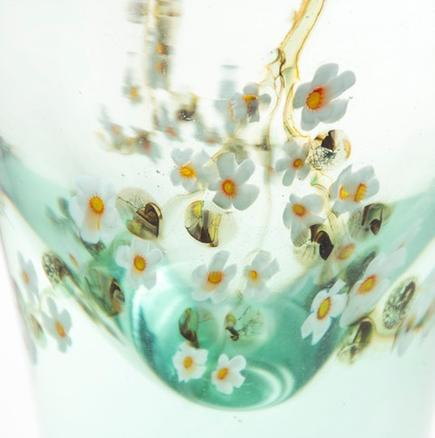 Tiffany Favrile Glass  Aquamarine  Vase 2