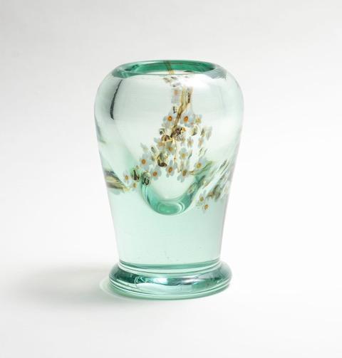 Tiffany Favrile Glass  Aquamarine  Vase 1