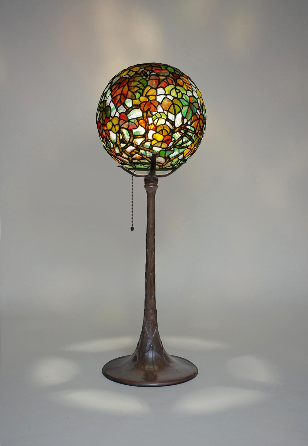 Tiffany Studios  Rare Autumn Leaves Table Lamp 1