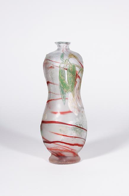 Burgun Schverer & Cie Decorated Vase with White Flowers 2
