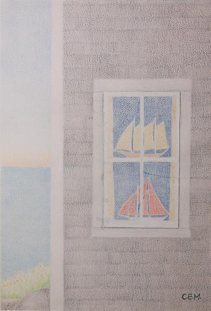Charles E. Martin <br>Boats in Window 1