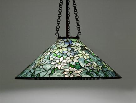 Tiffany Studios <br> Clematis Hanging Shade 1