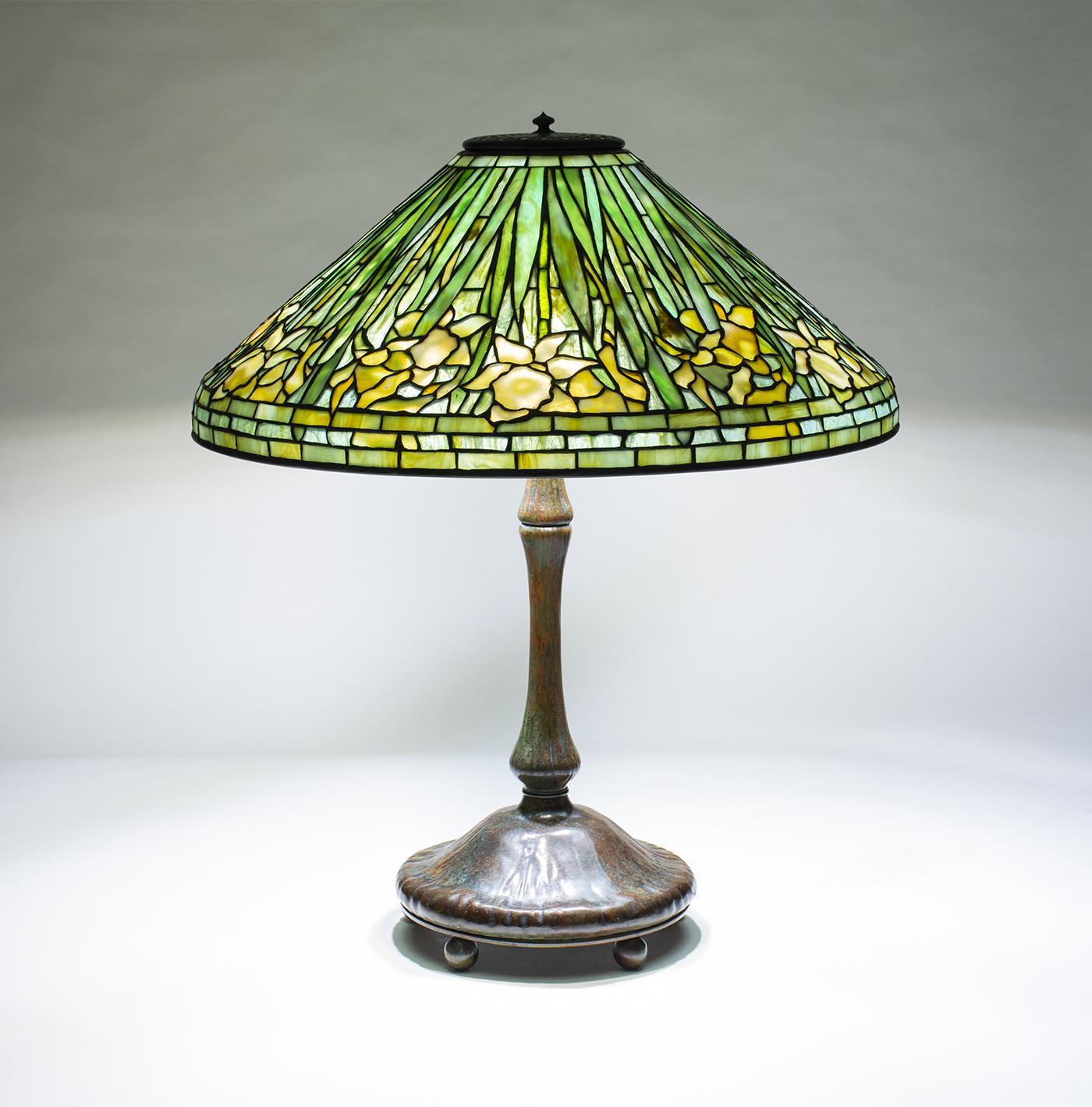 Tiffany Studios Daffodil Table Lamp  1