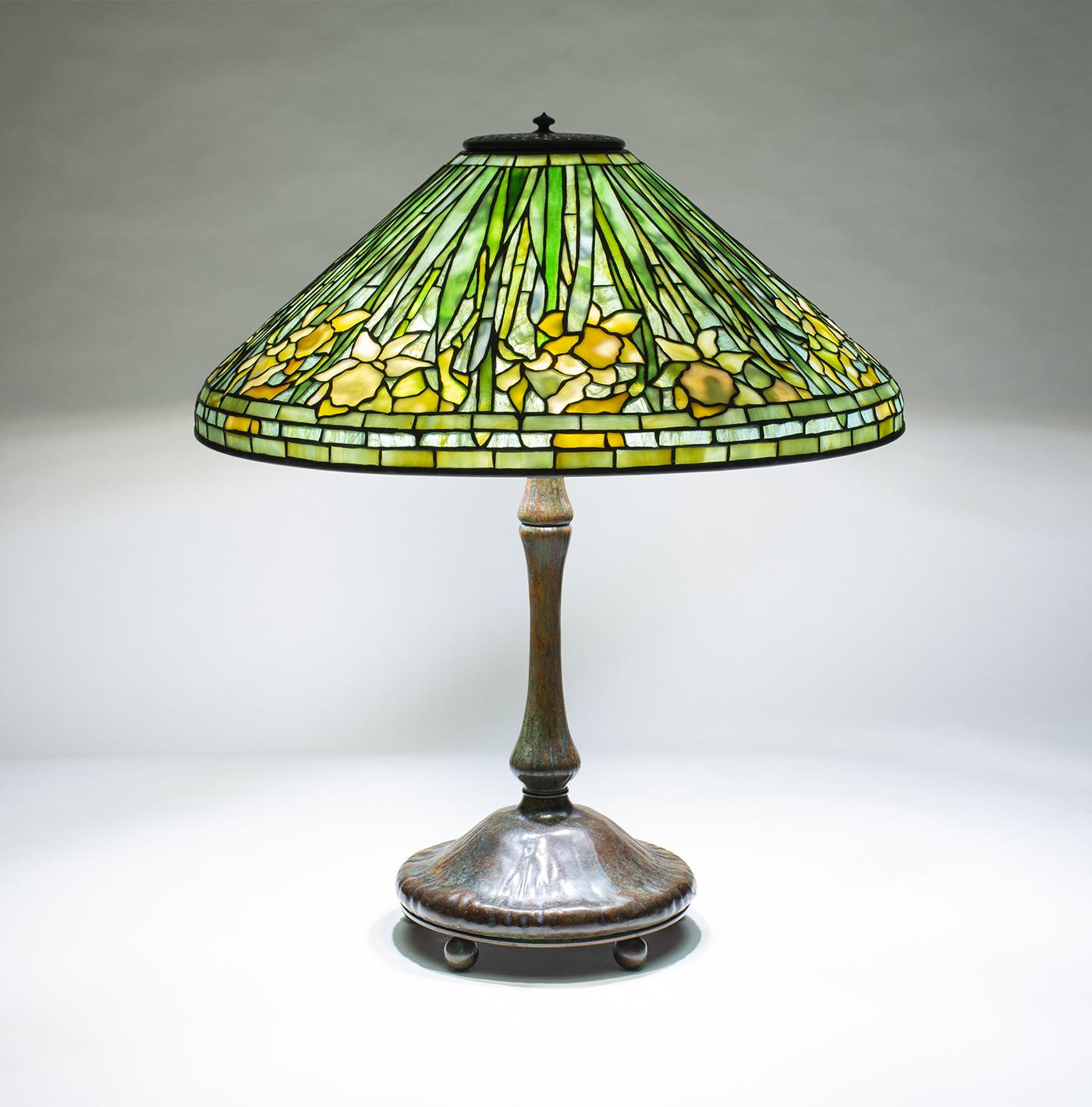 Tiffany Studios Daffodil Table Lamp  2