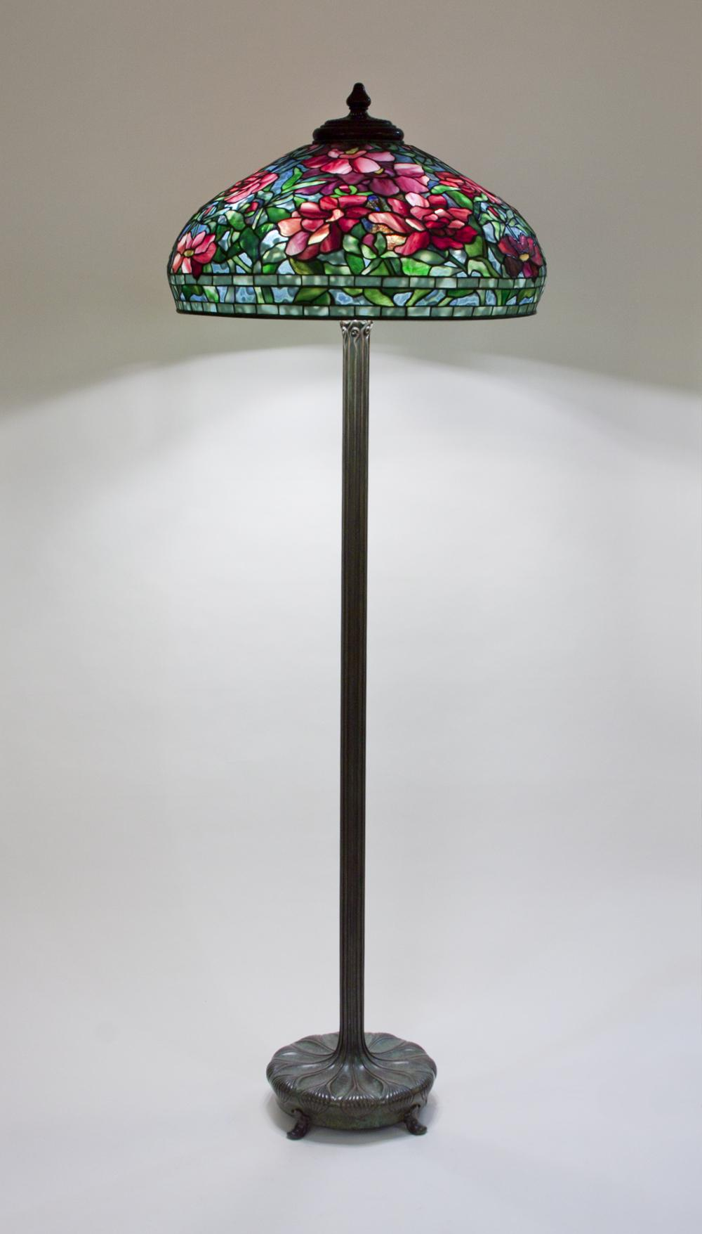 Tiffany Studios  Peony Junior Floor Lamp 1