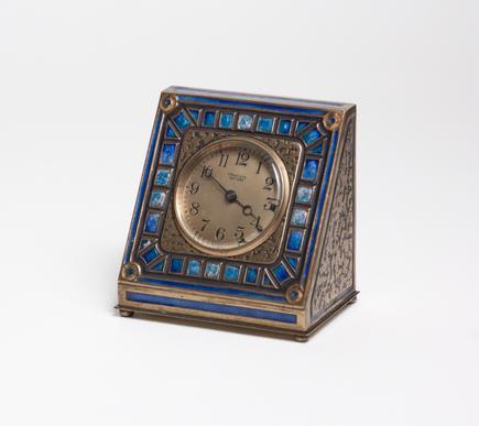 Tiffany Studios <br> Enameled Desk Clock 1