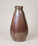 Tiffany Favrile Glass <br> Monumental Vase with Lily Pad Decoration