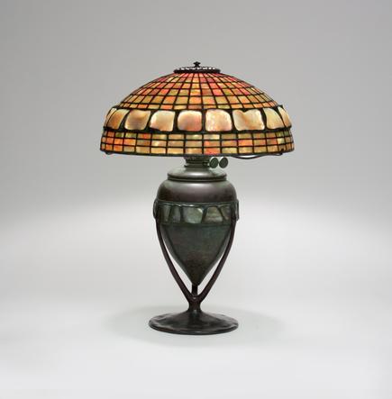 Tiffany Studios <br> Dichroic Turtle Back Table Lamp 1