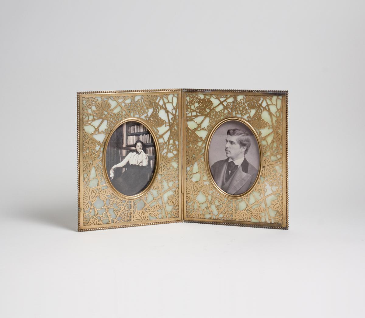 Tiffany Studios  Double 'Grapevine' Picture Frame 1