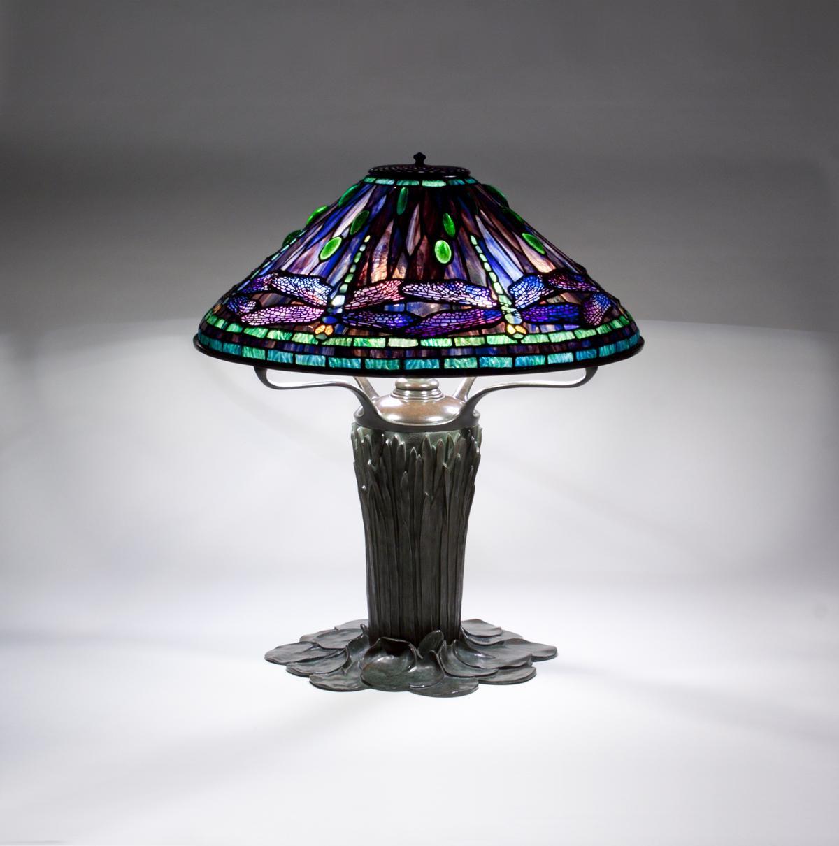 Tiffany Studios  Dragonfly Table Lamp 3