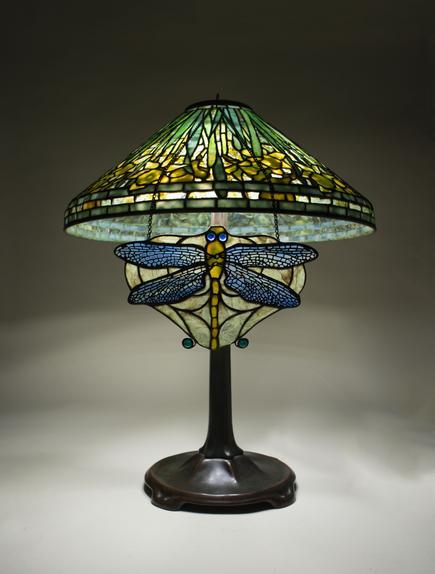 Tiffany Studios  Dragonfly Lamp Screen 2