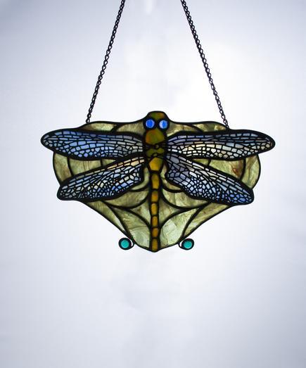 Tiffany Studios  Dragonfly Lamp Screen 1
