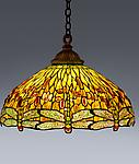 Tiffany Studios <br> Drophead Dragonfly Hanging Shade