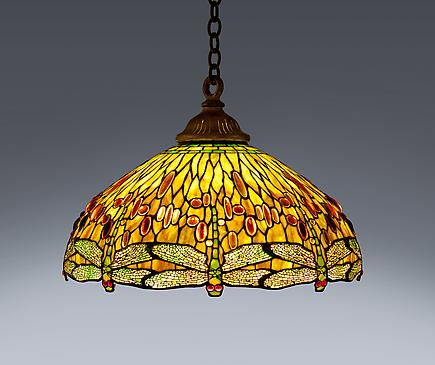 Tiffany Studios <br> Drophead Dragonfly Hanging Shade 1