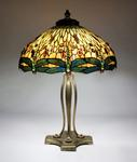 Tiffany Studios <br> Drophead Dragonfly Table Lamp