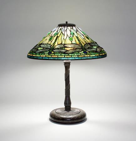 Tiffany Studios <br> Early Dragonfly Lamp 1