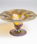Tiffany Favrile Glass  Carved Center Bowl