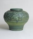 Tiffany Favrile Pottery  Vase with Chestnut Leaves