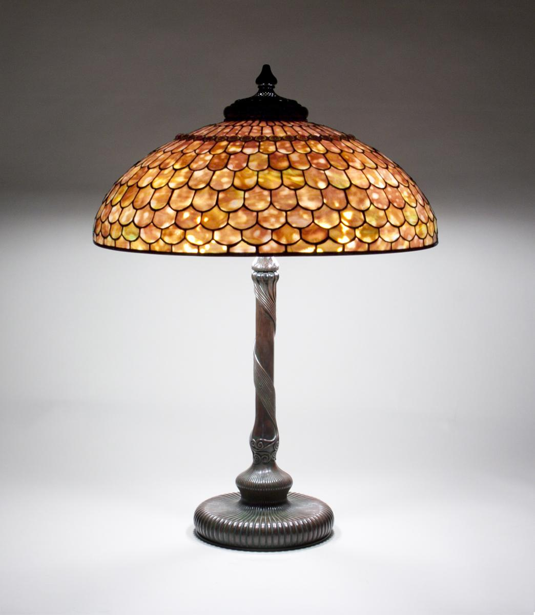 Tiffany Studios   Fish Scale  Table Lamp 1