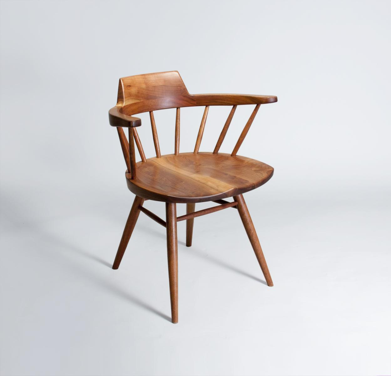 George Nakashima  Conoid Desk and Arm Chair 3