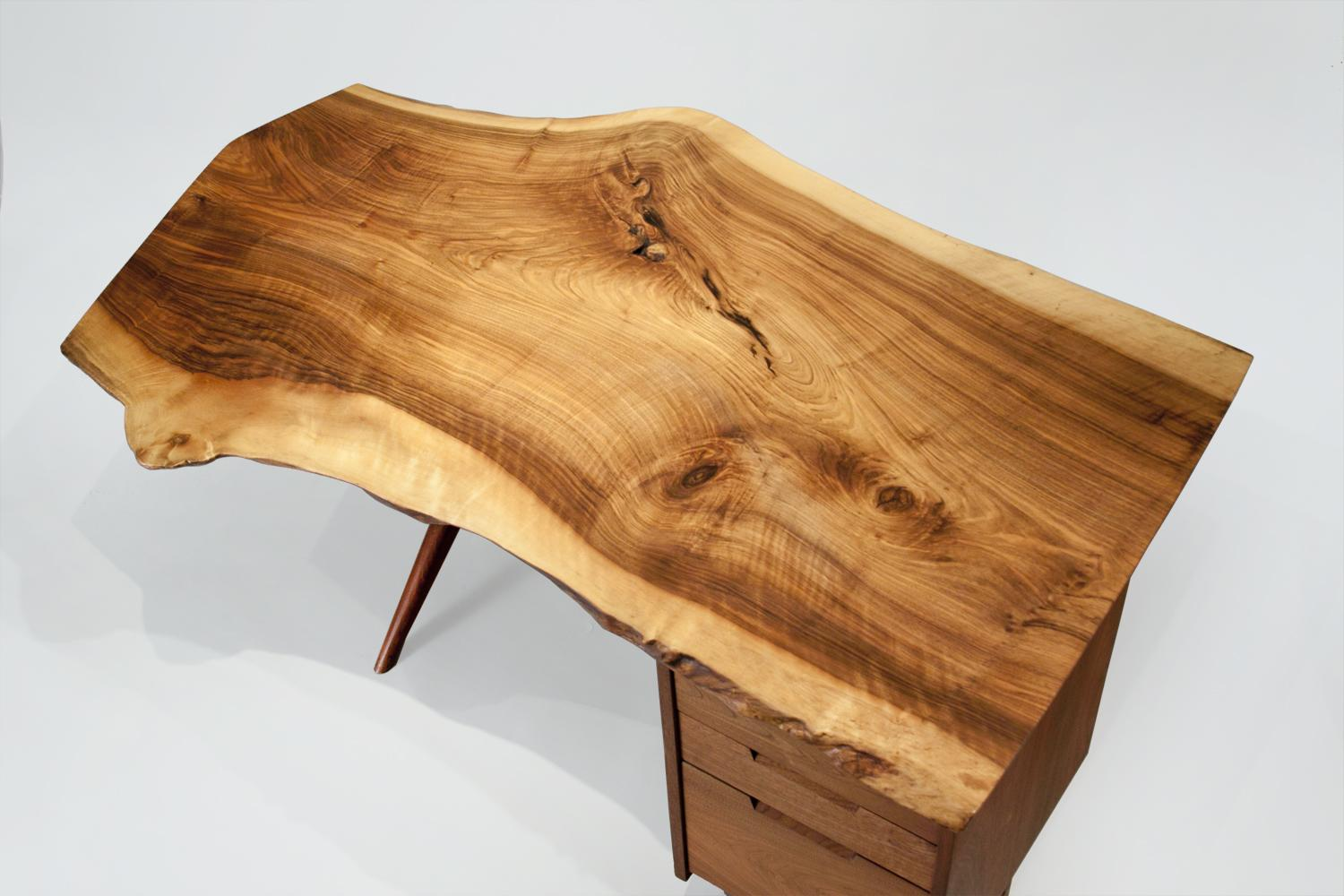 George Nakashima  Conoid Desk and Arm Chair 4