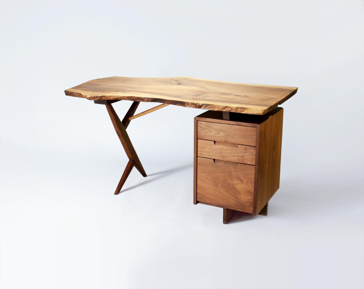 George Nakashima  Conoid Desk and Arm Chair 2