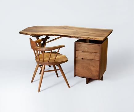 George Nakashima  Conoid Desk and Arm Chair 1