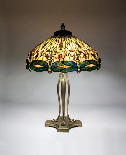 Tiffany Studios  Drophead Dragonfly Table Lamp 2