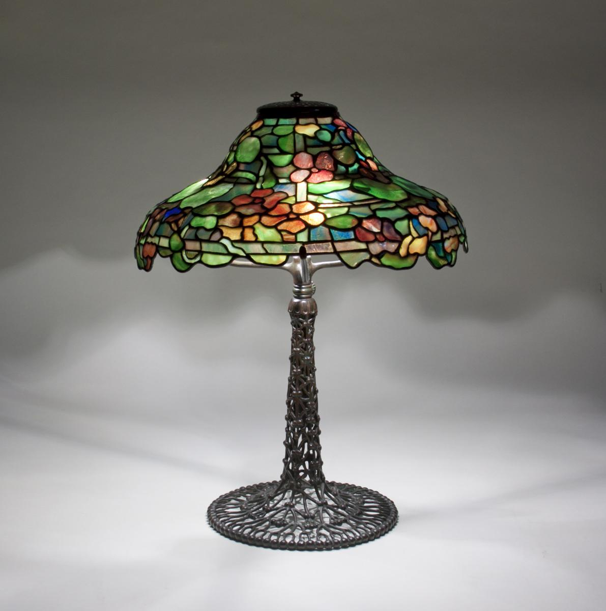 Tiffany Studios  Rare Nasturtium Table Lamp 1