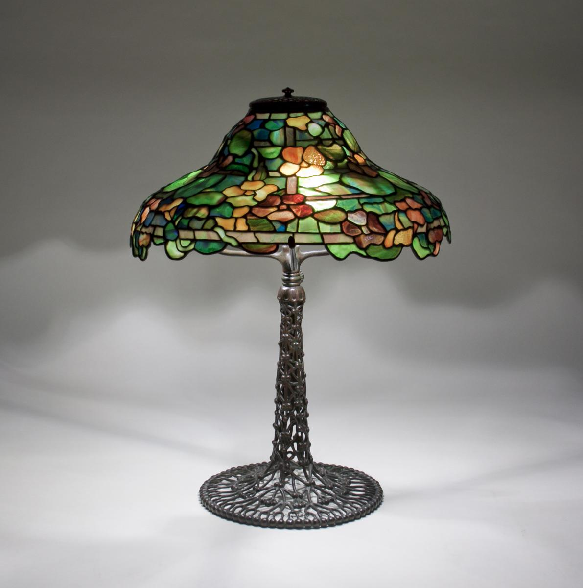 Tiffany Studios  Rare Nasturtium Table Lamp 2