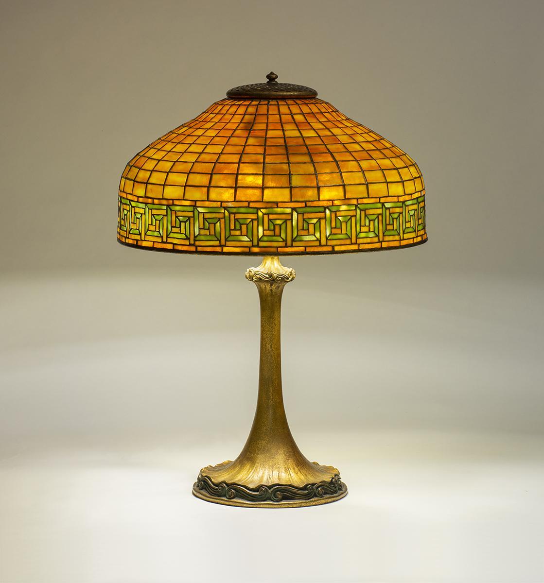 Tiffany Studios   Greek Key  Table Lamp 1