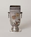 Gorham Co. <br> Silver and Mixed Metal Vase