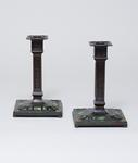 Tiffany Studios <br> Pair of Enameled Candlesticks