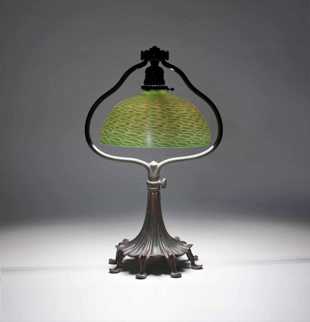 Tiffany Studios  Harp Desk Lamp 1