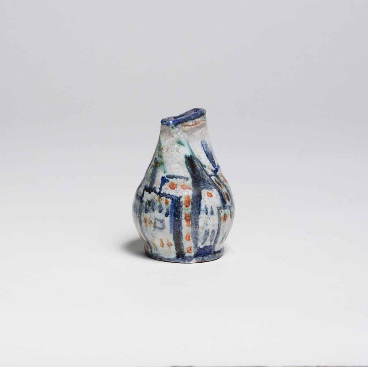 Gudrun Baudisch  Vase with Cityscape Motif 2