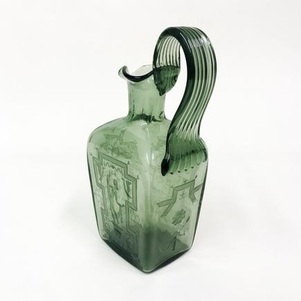 Orrefors Engraved Glass Pitcher 2