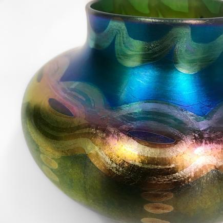 Tiffany Favrile Glass  Squat Vase 2