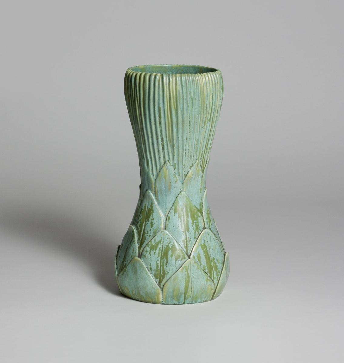 Tiffany Favrile Pottery  Tall Artichoke Vase 2