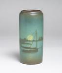 Sallie Coyne for Rookwood Pottery  Scenic Vellum Harbor Vase