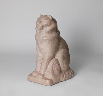 William Zorach  Seated Cat (Tooky)  1