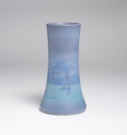 Fred Rothenbusch Scenic Vellum Harbor Vase 2