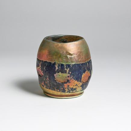 Tiffany Favrile Glass  Rare  Lava  Vase 1