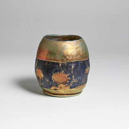Tiffany Favrile Glass  Rare  Lava  Vase 2