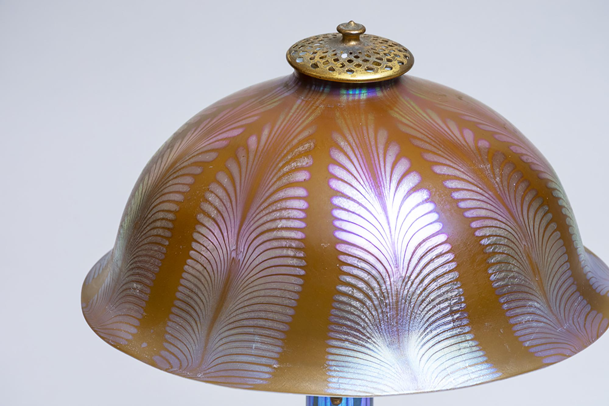 Tiffany Studios Favrile Glass Lamp 3