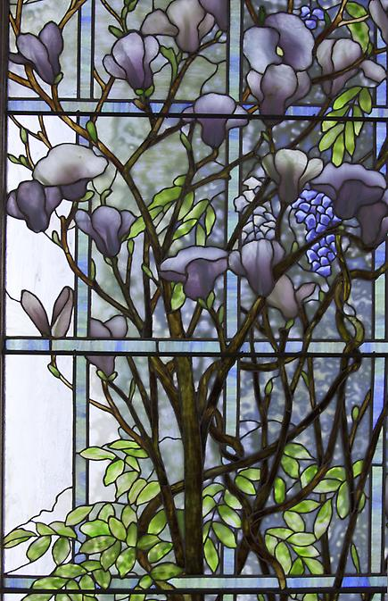 Tiffany Studios <br> Magnolia and Wisteria Window 3