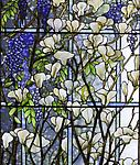 Tiffany Studios <br> Magnolia and Wisteria Window